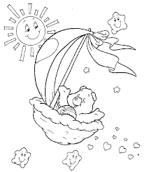 Small Picture Care Bears Coloring Pages Coloring Kids