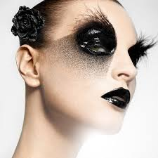 black eye makeup crazy