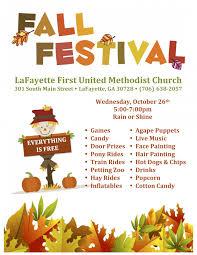 Fall Festival Flier Fall Festival Lafayette First United Methodist Church