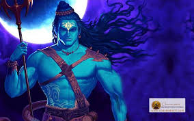 angry lord shiva blue colour hd wallpaper for free width