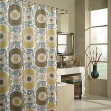 fabric shower curtains target white blue cream ceramic wall pedestal sink beside along white fabric shower