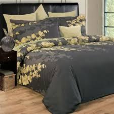 elegant gray duvet cover for impressive bedroom travertine flooring combine with full size headboards also