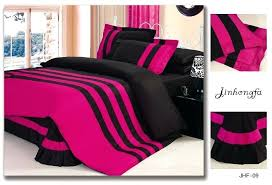 pink and black duvet cover pink and black double duvet covers