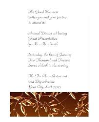 Formal Dinner Party Invitation Wording Corporate Invite Template