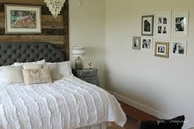 Master Bedroom Reveal With Wood Wall, Specialty Paint Techniques, And  Upholstered Headboard ...
