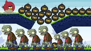 Angry Birds Fry Zombie - DROP EXPLOSIVE TNT AND GIANT BOMB TO BURN ALL  ZOMBIES! - YouTube