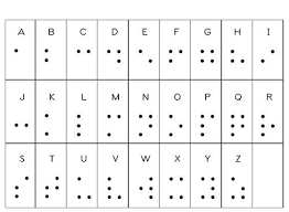 Braille Number Chart Braille Alphabet Chart Optical Illusions
