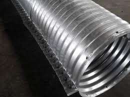 corrugated metal culvert pipe