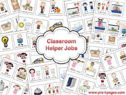 Classroom Helpers Job Kit Classroom Helpers Preschool