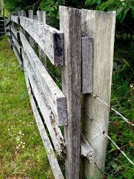 wood farm fence. A Weathered Gray-wood Farm Fence Strung With Barbed Wire Stock Photo - 3416157 Wood