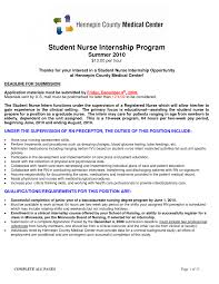 Internship Nursing Internship Resume