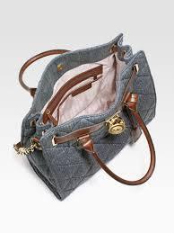 Michael michael kors Hamilton Quilted Denim Tote Bag in Blue   Lyst & Gallery Adamdwight.com