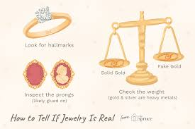 how to tell if jewelry is real