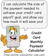 Cc Payoff Calculator Credit Card Monthly Payment Calculator Increase Amount And Save