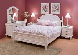 Bedroom White Bedroom Combined With Cherry Materialized Furniture - Types of bedroom furniture