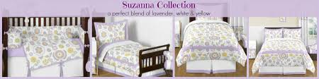 suzanna lavender and gray bedding sets and girls room decor
