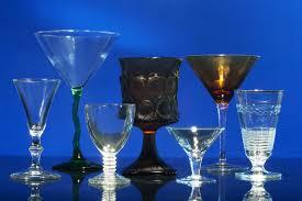 vintage stemmed glassware