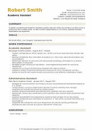 Associate Registrar Sample Resume Inspiration Academic Assistant Resume Samples QwikResume