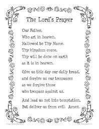 The Lords Prayer Coloring Pages Our Father Colouring Page For Kids