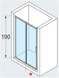 novellini lunes 2p two piece sliding shower door diagram