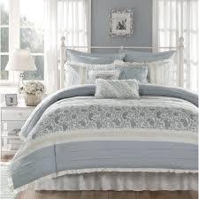 nice grey and blue comforter sets