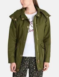 Designer Fishtail Parka Armani Exchange Hooded Fishtail Parka Coat For Women A X