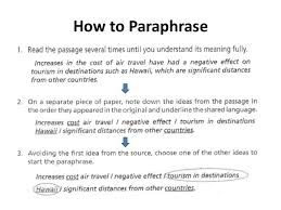 paraphrasing summarizing and quoting information how to paraphrase 14