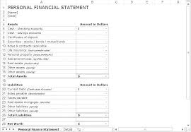 Blank Bank Statement Template Awesome Blank Financial Statement Template Bank Forms Idea Personal Sba