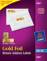 Avery Gold Foil Mailing Labels 8987