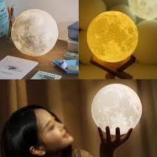 3d moon lamp usb led night light moonlight