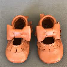 Jaxhoo Shoes Jaxhoo Bow Moccasins Color Brown Size