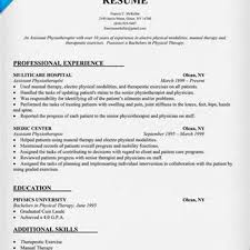 Resume Of Sports Physiotherapist