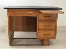 vintage french desk in light oak 1960s