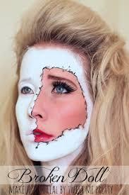 broken doll face makeup tutorial