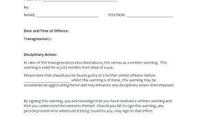 Verbal Warning Form Template Elegant Employee Write Up New
