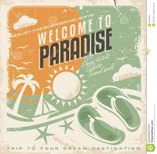 Retro Holidays Summer Holiday Retro Poster Design Stock Vector Illustration Of