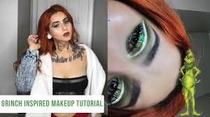 grinch inspire makeup tutorial