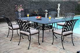 cast aluminum patio chairs. CBM Outdoor Cast Aluminum Patio Furniture 7 Pc Dining Set E1 CBM1290 Chairs