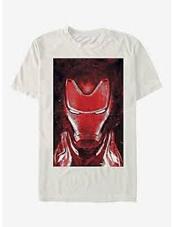 Marvel Avengers Endgame Iron Man Red Iron Man T Shirt, NATURAL, ...