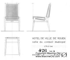 chair design drawing. Paquebot France Council Chair Design. Maxime Old - Modern Art Furniture Designer Design Drawing
