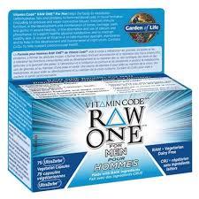 garden of life vitamin code men. Garden Of Life Vitamin Code RAW ONE For Men 75 Caps C