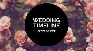 Wedding Timeline Classy Planning Tools 48 Your Wedding Timeline Spreadsheet Offbeat Bride