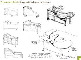 table design sketches. Contemporary Table Reception Desk Concept Development Sketches  Intended Table Design D