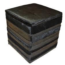 leather cube ottoman. Interesting Ottoman Cowhide And Leather Cube Ottoman  To E