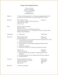 Chronological Resume Template Chronological Resume Template Cool Chronological Resume Sample 15