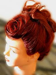 Frontal Rose Updo Trendy Hairfashion For Bridal Bride Gala Prom
