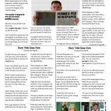 Free Newspaper Templates Print And Digital Makemynewspaper With
