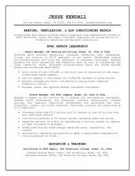 Resume For Hvac Engineer