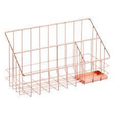 Desk Organizer Copper Wire Desktop Organizer The Container Store