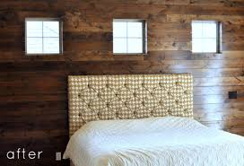 Small Picture before after wood paneled accent wall DesignSponge